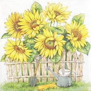 Garden Of Sunflowers - Decoupage Napkin