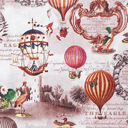 Vintage Balloons - Decoupage Napkin