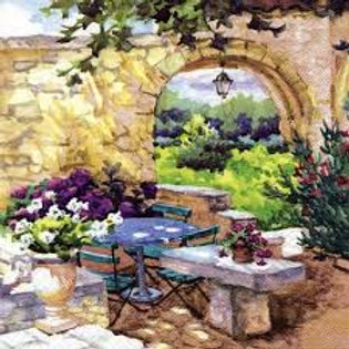 Patio Morning - Decoupage Napkin