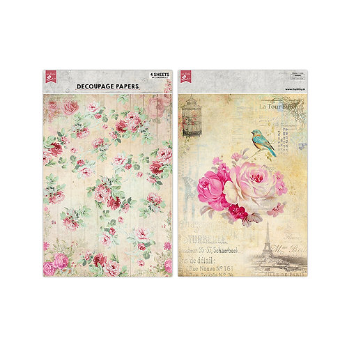 Floral Excellence Decoupage Paper -Little Birdie