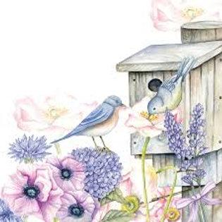 BirdHouse - Decoupage Napkin