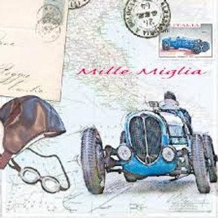 Mille Miglia - Decoupage Napkin