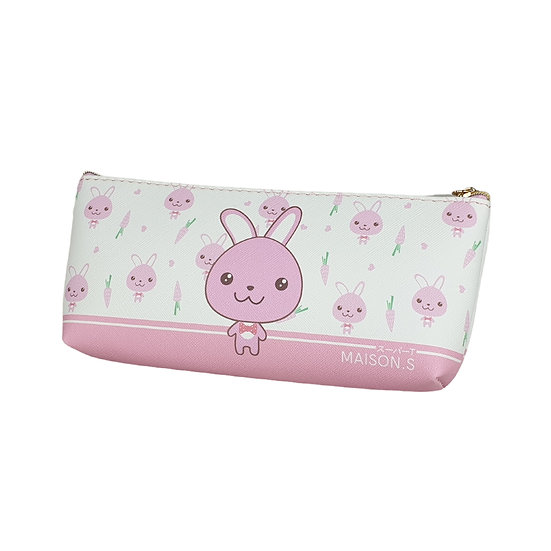 Cute Pets Triangle Pencil Case - Bunny