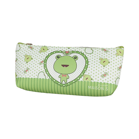 Cute Pets Triangle Pencil Case - Frog