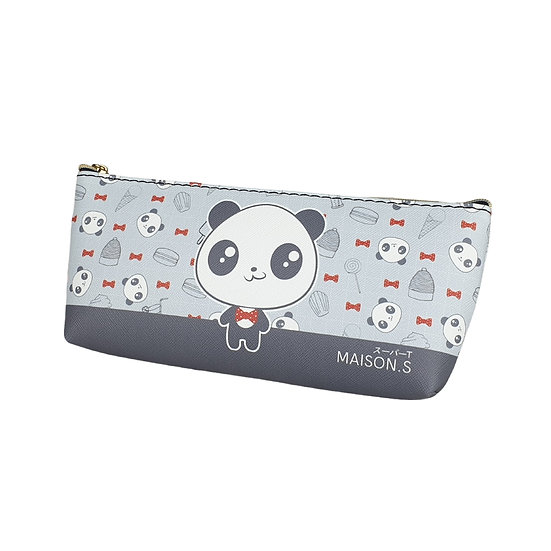 Cute Pets Triangle Pencil Case -Panda