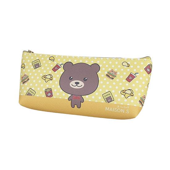 Cute Pets Triangle Pencil Case - Bear