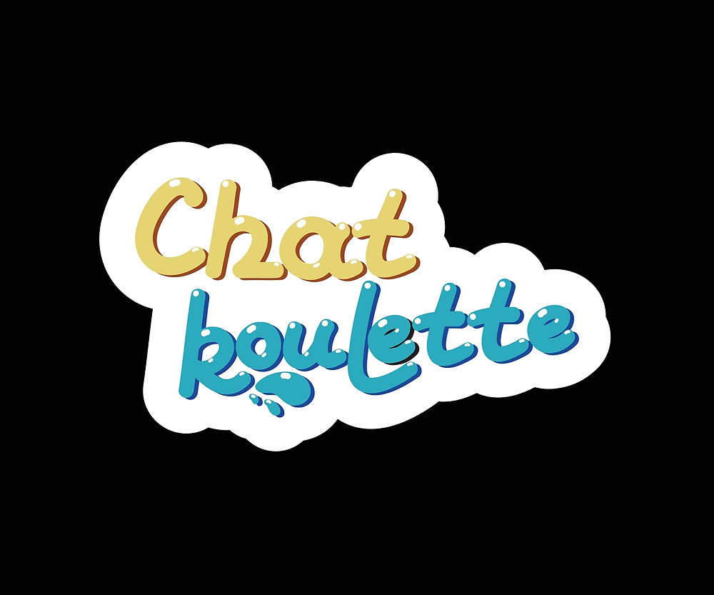 chat roulette logo on black background