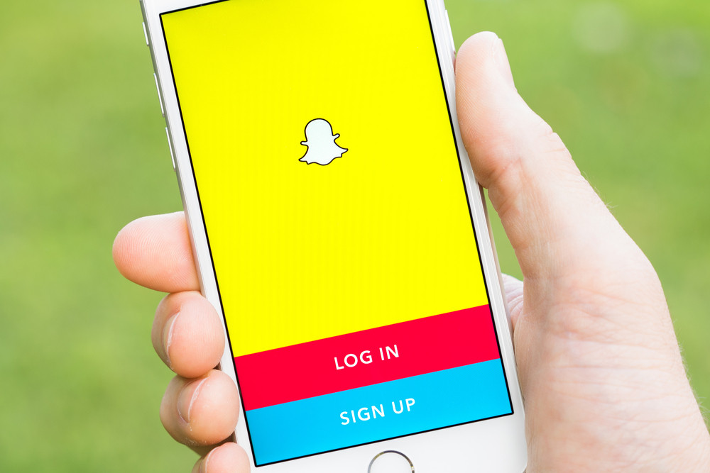 napchat application on iphone smartphone