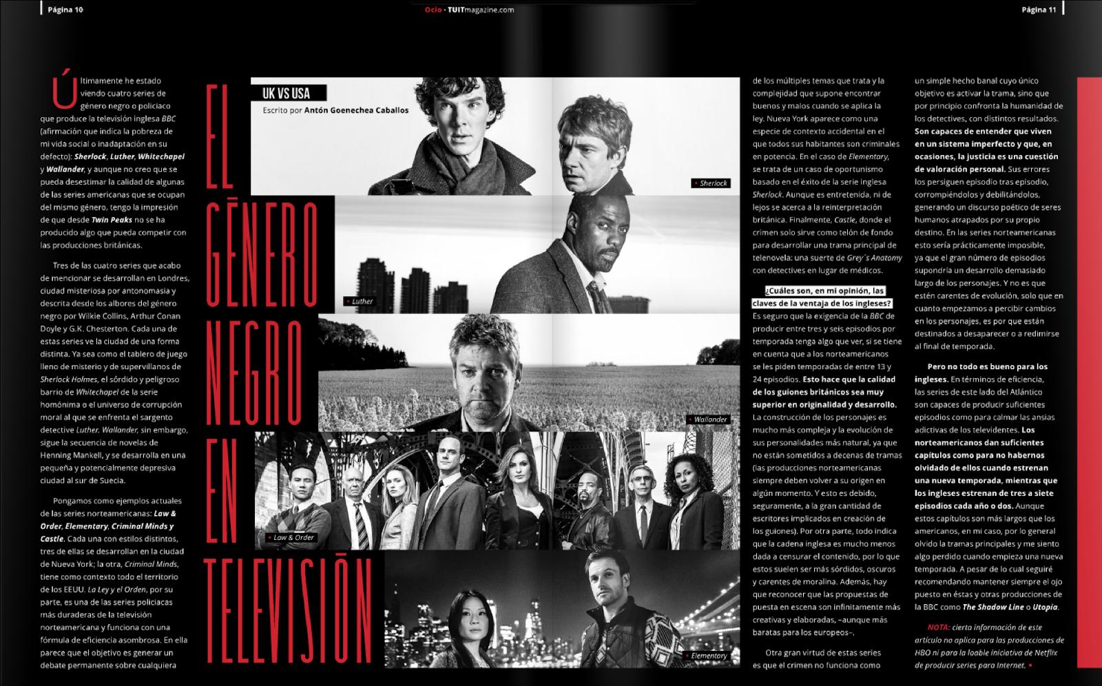El genero negro en televisión