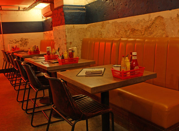 7Bone Burger Co Newbury Restaurant Diner Interior Design