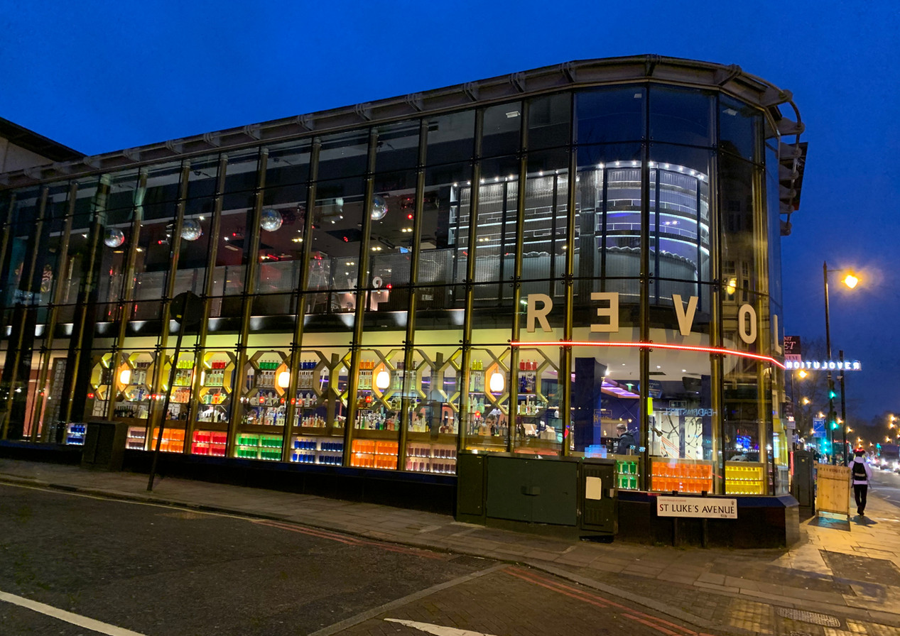 Revolution Clapham High Street, London | Hospitality & Co-working Interior Designers. Restaurant, bar, hotel, office, Shopfront, kerb appeal.