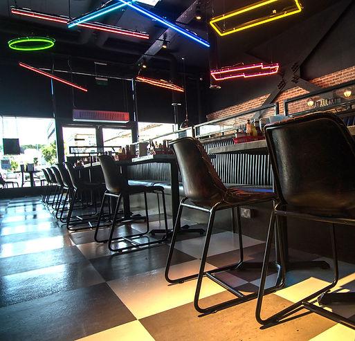 7Bone Weston Super Mare interior designer neon burger