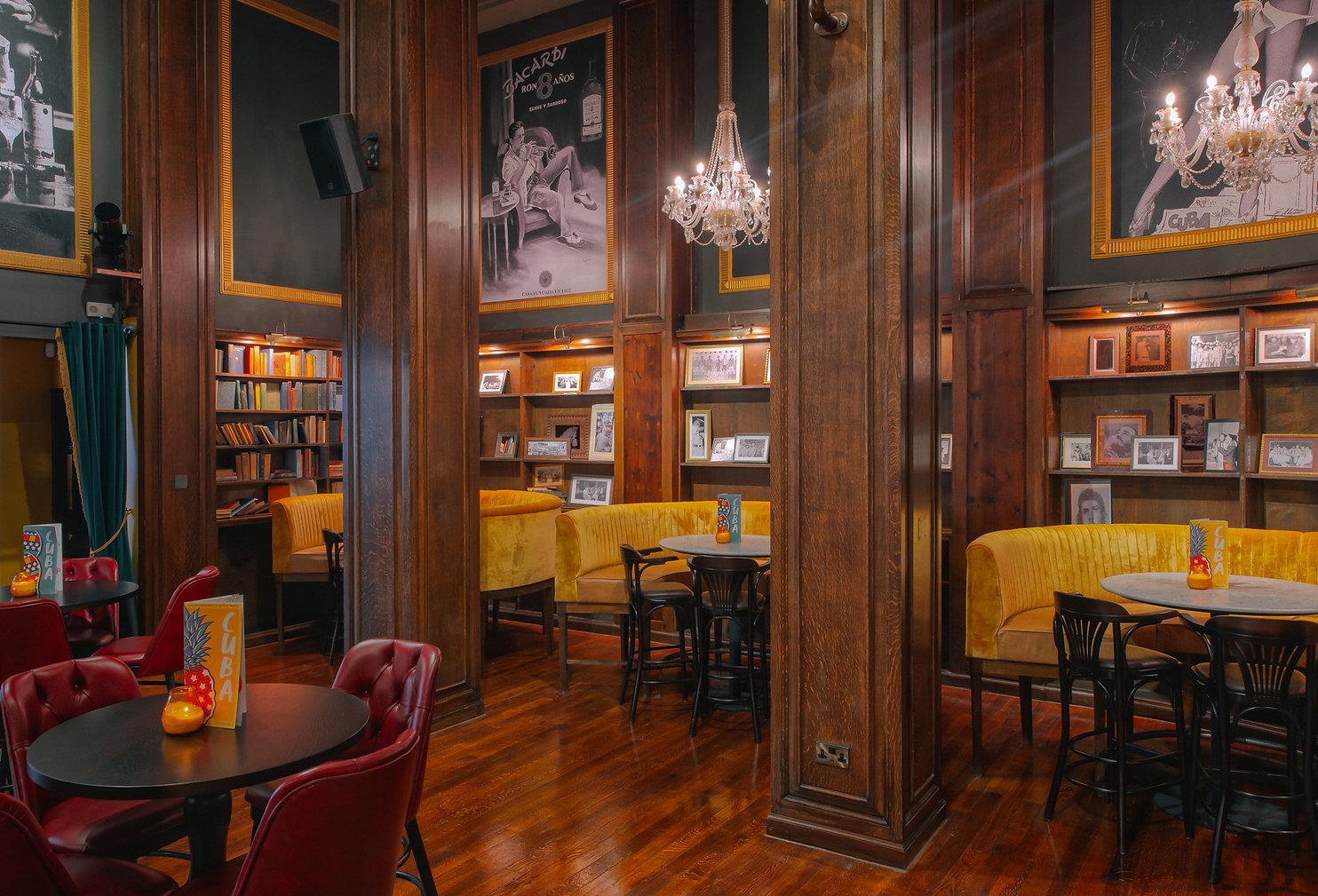 Revolucion De Cuba, Birmingham | Library Bar Interior Design | Maven Design Studio