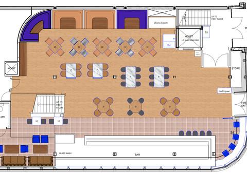 Revolution Clapham High Street, London | Hospitality & Co-working Interior Designers. Restaurant, bar, hotel, cafe, office.
