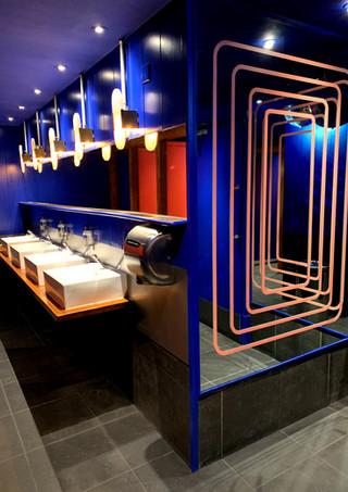 Revolution Clapham High Street, London | Hospitality & Co-working Interior Design Consultants. Restaurant, bar, hotel, office, Toilets.