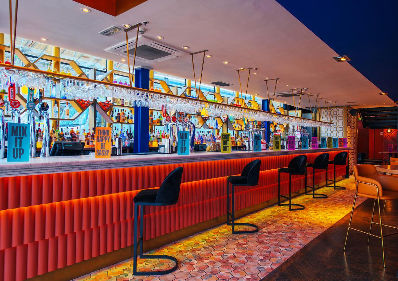 Revolution Clapham High Street| Hospitality & Co-working Interior Design Services. Bar, restaurant, office, hotel