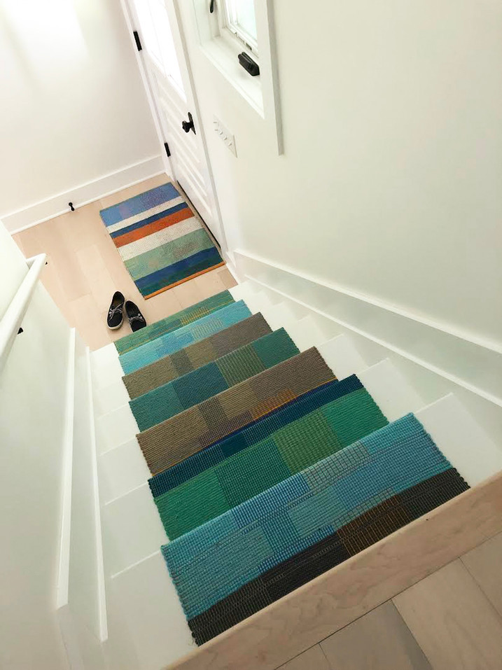 "Stair Runner 2' 3"" x 11', Small Rug 2' x 3'"