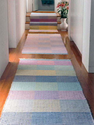 """Hallway Runners 2' 6"""" x 8', Runner 2' x 9', and Area Rug 3' x 3'"""