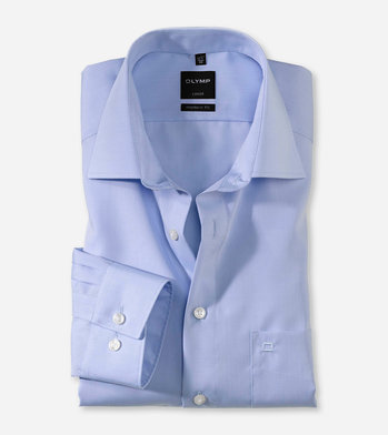 Olymp Modern Fit. Chambray. New Kent kraag.