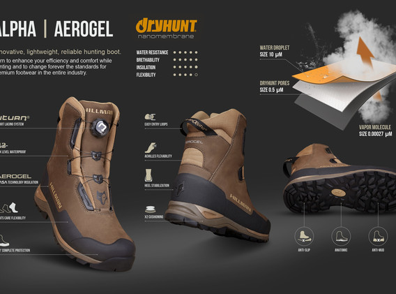 Waterproof Hunting Boots Alpha Aerogel H