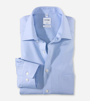 Olymp Comfort Fit. Chambray. New Kent kraag.