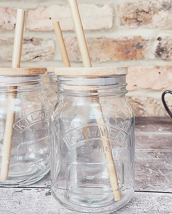 RYLE Bamboo Kilner Jar Drinking Cup