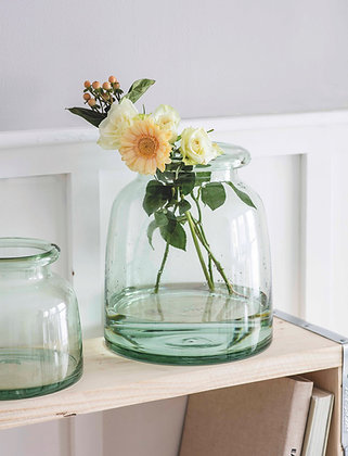 Chunky Vase Crafted in 100% Recycled Glass (Large)