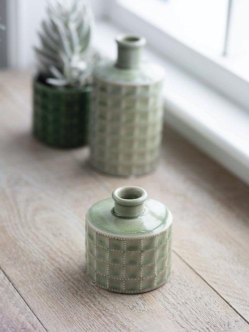 Ceramic Sorrento Sage Green Bottle (Small)