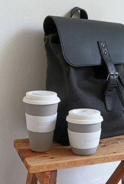 Zuperzozial Grey Biodegradable Bamboo & Corn Travel Mug