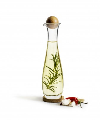 Oil / Vinegar Bottle with Oak Stopper - Sagaform