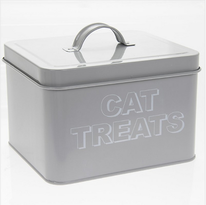 Roberts Grey Cat Treats Tin