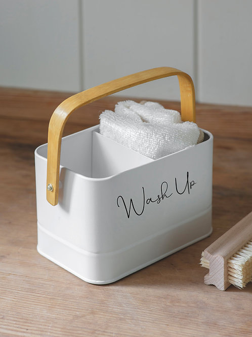 RYLE Priory Labelled Sink Tidy with Bamboo Handle