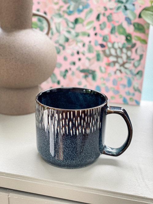 Stoneware Blue Speckle Mug - 400ml