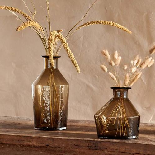 Coffee Brown Asymmetric Vase - 2 Sizes
