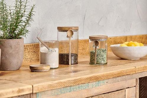 Mango Wood Kossi Storage Jar (2 Sizes) - Nkuku