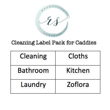 Cleaning Label Set of 6 (SIZE MEDIUM)