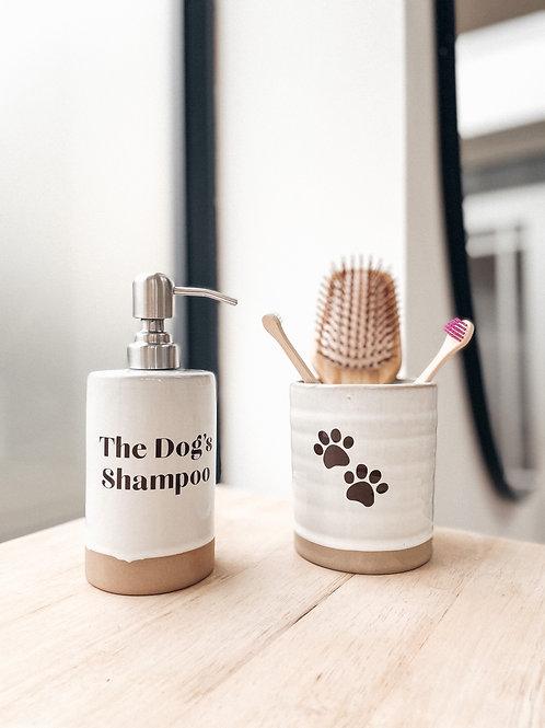 Personalised Pet Wash & Brush Holder Set of 2