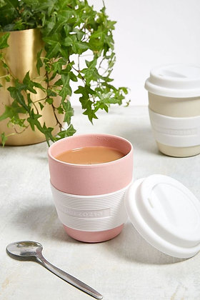 Zuperzozial Pink Biodegradable Bamboo & Corn Mini Travel Mug