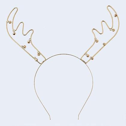 Gold Reindeer Antler Headband