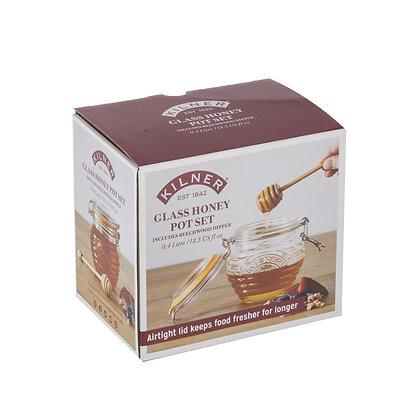 KILNER Honey Pot & Beechwood Dipper