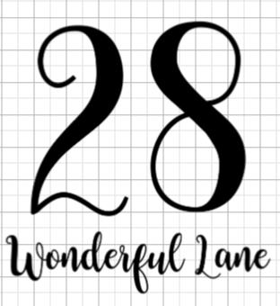 Single Wheelie Bin Decals - Household Street and Number