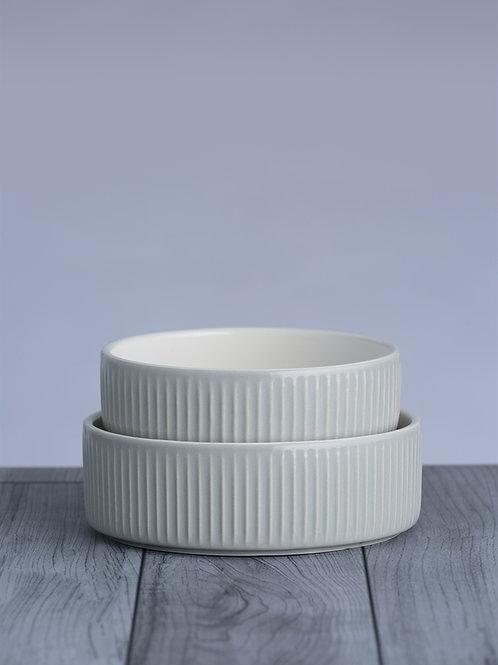 Mason Cash Linear Grey Pet Bowl - 15 x 5cm