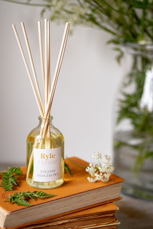 Glass Reed Diffuser - English Hedgerows OR Wild Fig & Grape