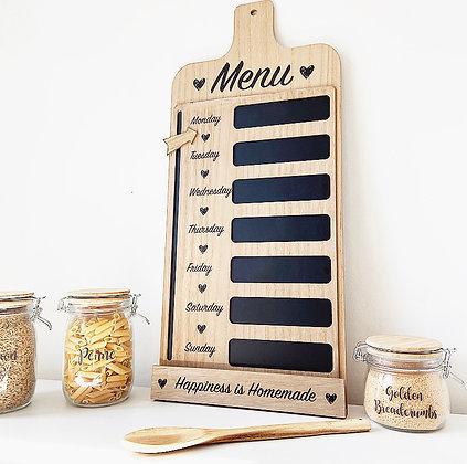 Large Rustic Weekly Menu Chalk Board
