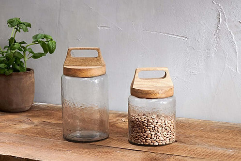 Mango Wood Kitto Storage Jar (2 Sizes) - Nkuku