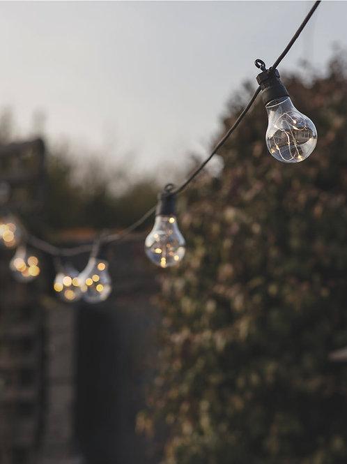 Solar Black Festoon 10 Bulb Outdoor Lights