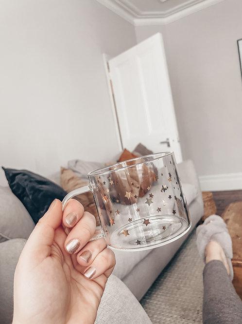 Gold Star 400ml Glass Mug