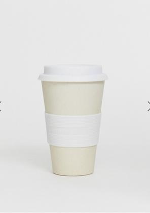 Zuperzozial White Biodegradable Bamboo & Corn Travel Mug