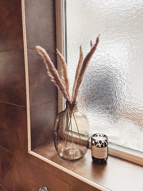 Lua Vintage Brown Glass Vase - Nkuku