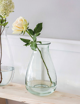 Classic Teardrop Vase Crafted from 100% Recycled Glass